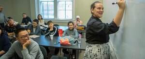 ESL students in classroom