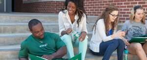 Students studying outside NSU