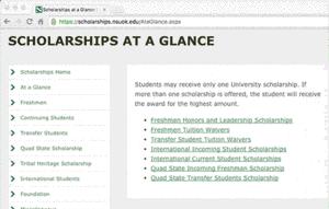 nsu scholarship information