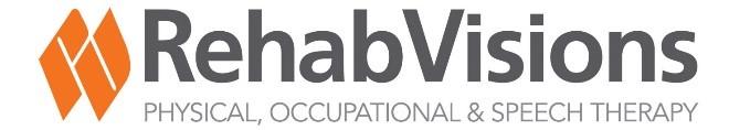 White Level Sponsor Rehab Visions Logo