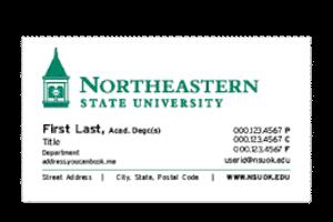 academic advisor business card
