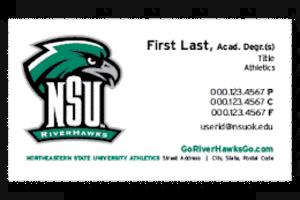 athletics business card