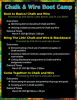 chalk and wire march 2021 boot camp series flyer