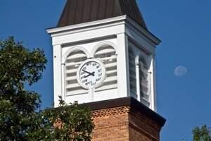 clocktower with moon