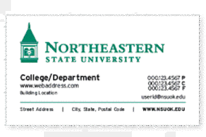 college department non standard business card