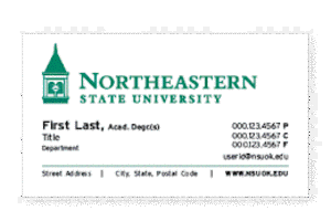 standard institutional traditional business card