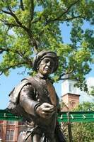 Image of Sequoyah in Centennial Plaza.