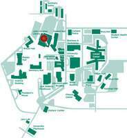 Map of the Student Academic Success Center's location.
